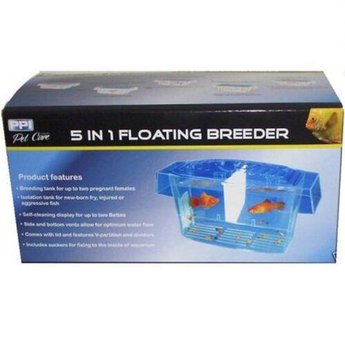 1 of 1 - Aquarium 5 in 1 Floating Breeder Breeding Tank x2 Betta Display Isolation Tank