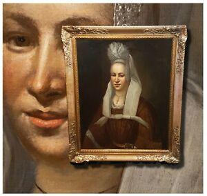 Prinzessin-von-Nassau-Antikes-Damenportrait-Olgemaelde-Biedemeier-um-1830-Siegel
