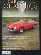 Car Classics 03/1992 Issue 1 featuring Bentley, Lamborghin, Ferrari, Lancia