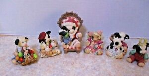 Lot-of-6-Marys-Moo-Moos-Enesco-Christmas-Holiday-cow-Collectibles-EUC