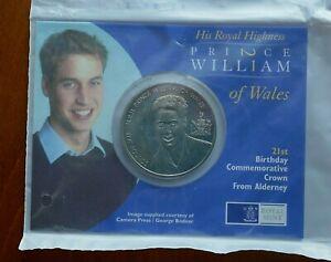 Alderney-2003-5-Pounds-Prince-William-21st-Birthday-Mint-pack