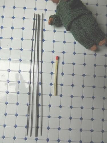 Rumplestiltskin agujas miniatura-muñecas-ropa 5er aguja juego 1mm ideal F