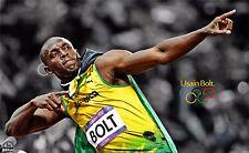 "Usain BOLT Jamaica Athletes The Fastest Man Sport 21""x13"" Poster 045"