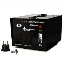 2000 Watt Heavy Duty Step Up/Down Voltage Transformer Converter 110/120/220/240