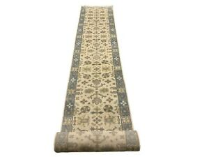 3X24-Ivory-Oushak-Runner-Hand-Knotted-Wool-Oriental-Rug-Carpet-2-7-x-23-7