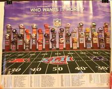 """2007 Super Bowl XLII Who Wants It More NFL Helmets 16 x 20"""" Poster"""