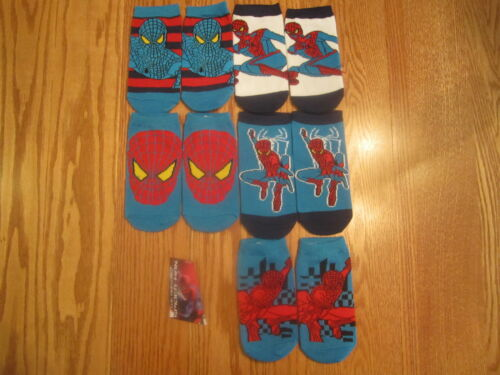 BL1 The Amazing Spider-Man Child Socks Brand New SIZE 6-8 1//2-5 PAIRS!