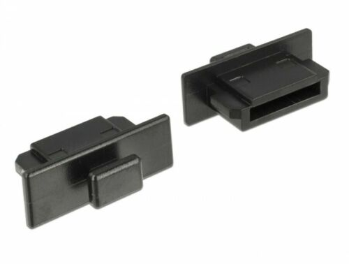 10 Stück Schutz vor Schmutz und Staub für eSATA Stecker mit Griff in schwarz