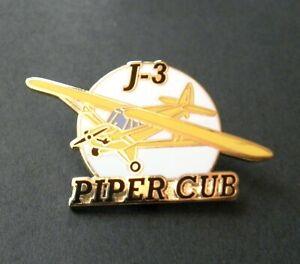 PIPER J-3 CUB LIGHT AIRCRAFT AVIATION PLANE LAPEL PIN BADGE 1.5 INCHES
