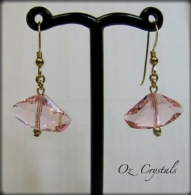Pink Galactic Earrings made with Swarovski & 14 Kt Gold Filled