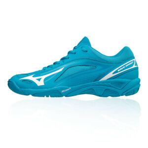 Mizuno-Homme-vague-fantome-Cour-Chaussures-Bleu-Sports-Handball-Respirant-Leger