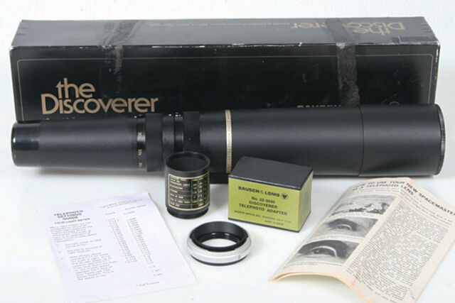 Bausch Lomb 15-60 zoom 60mm tele scope spotting w/ camera t-mount, discoverer