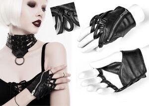 Gant-mitaine-gothique-punk-lolita-cuir-entrelace-bagues-zip-zippe-mode-Punkrave