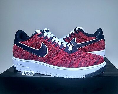 Nike Air Force 1 Ultra Low Flyknit RKK New England Patriots Robert Kraft Red Blu | eBay