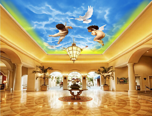3D Angle Dove WallPaper Murals Wall Print Decal Deco AJ WALLPAPER AU