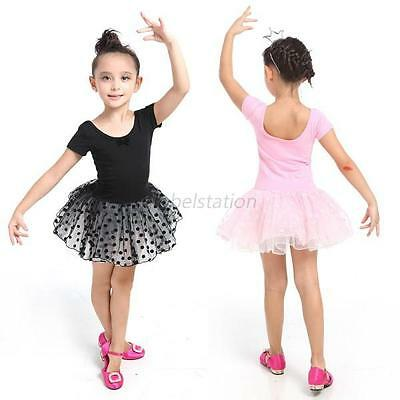 Toddler Kids Girl Princess Party Tutu Dress Skirt Ballet Dance Leotards 3-7Y