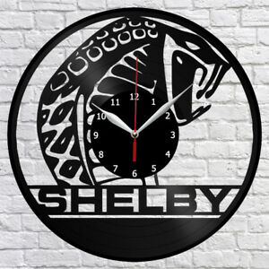 Image Is Loading Ford Mustang Shelby Vinyl Record Wall Clock Home