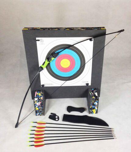 ASD Wildcat Kids Blk /& Green Recurve Archery Bow 18 Lbs Package 3 W// Target Boss