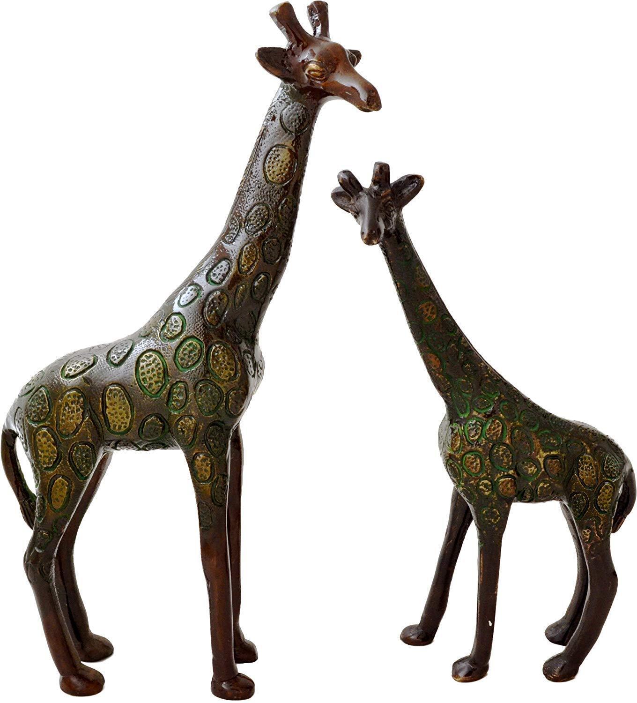 Decorative Brass Giraffe Pair Showpiece Home Décor Sculpture Statue