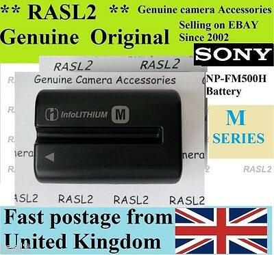 Genuine Sony NP-FM500H Battery Alpha A200 A300 A350 A450 A500 A550 A560 A580 A57