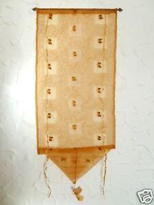 Raffrollo-Gardine-Binderollo-56-cm-breit-gold-messing