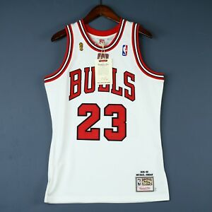 81e77388f31c 100% Authentic Michael Jordan Mitchell Ness 95 96 Finals Bulls ...