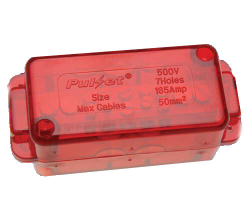 Electrical Neutral Active Link 165A 7 Switchboard Red Heavy Duty Industrial