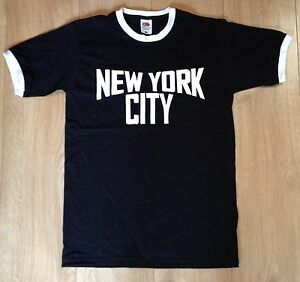 New-York-City-Ringer-T-Shirt-Retro-John-Lennon-Classic-Music-Imagine-Black