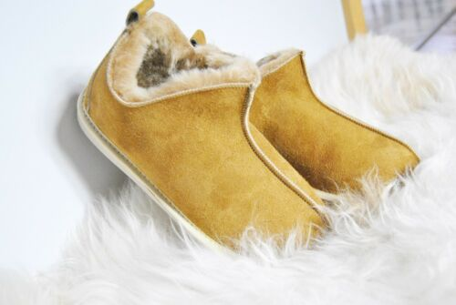 Natural Warm chestnut CARAMEL Wool Ankle Boot Slippers Christmas Gift All sizes