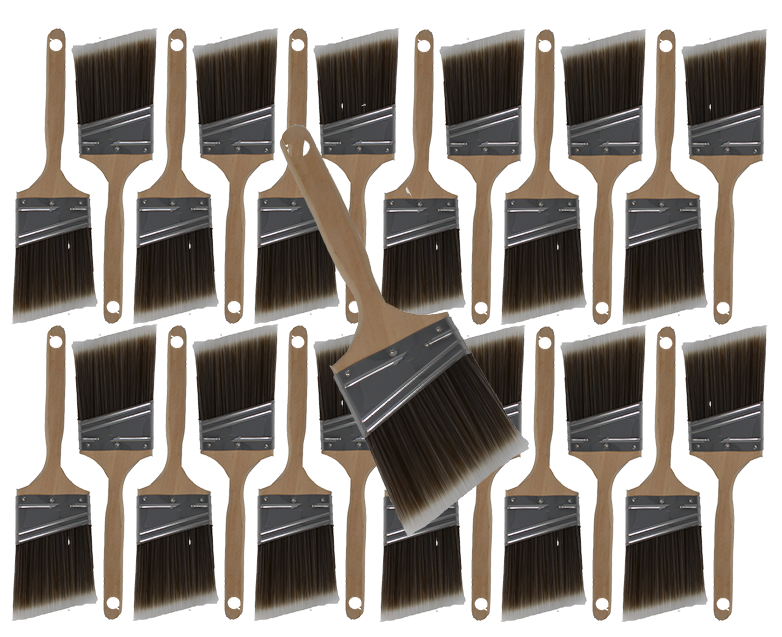 24PK 3  Angle House Wall,Trim Paint Brush Set Home Exterior or Interior Brushes