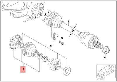 VOLVO S60 2.4 INNER DRIVE SHAFT BOOT KIT//GAITER 2001/>2005