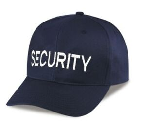 Black-034-SECURITY-034-BASEBALL-STYLE-HAT