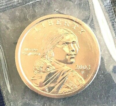 2 Coins 2002 P D  GEM  BU Sacagawea Dollar  in mint cello FLAT RATE SHIPPING