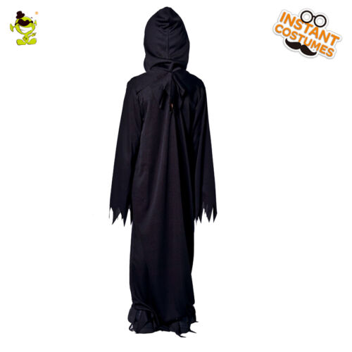 Kids Scary Devil Ghost Costume Halloween Black Zombie Cosplay Suits for boys