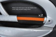 BLACK & Orange 2x PANTHERS PORTA BRACCIOLO IN Pelle Cover Adatta per BMW Mini Cooper 01-03