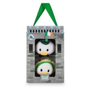 Disney-Store-Tsum-Tsum-3-5-034-Donald-amp-Daisy-Ireland-Gift-Box-set-Mini-Plush