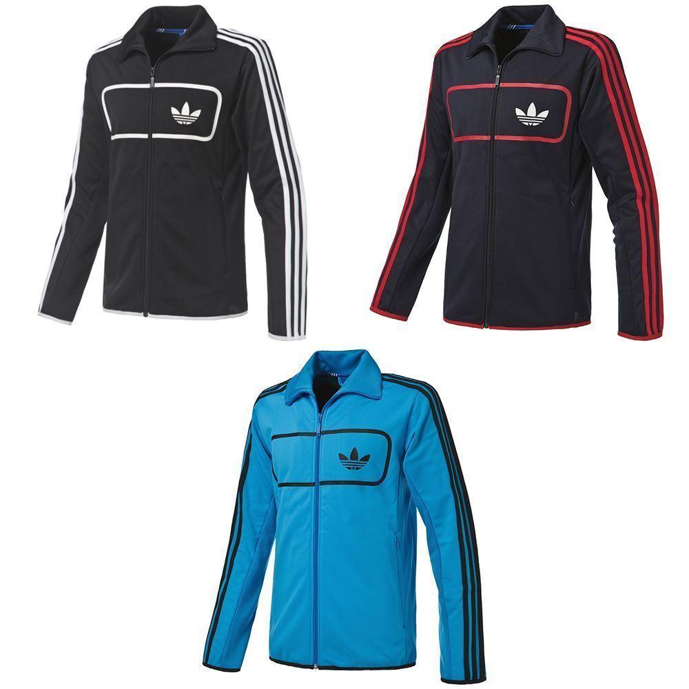 Adidas Originals Herren Street Diver Trainingsjacke Blau Schwarz Marineblau Rot