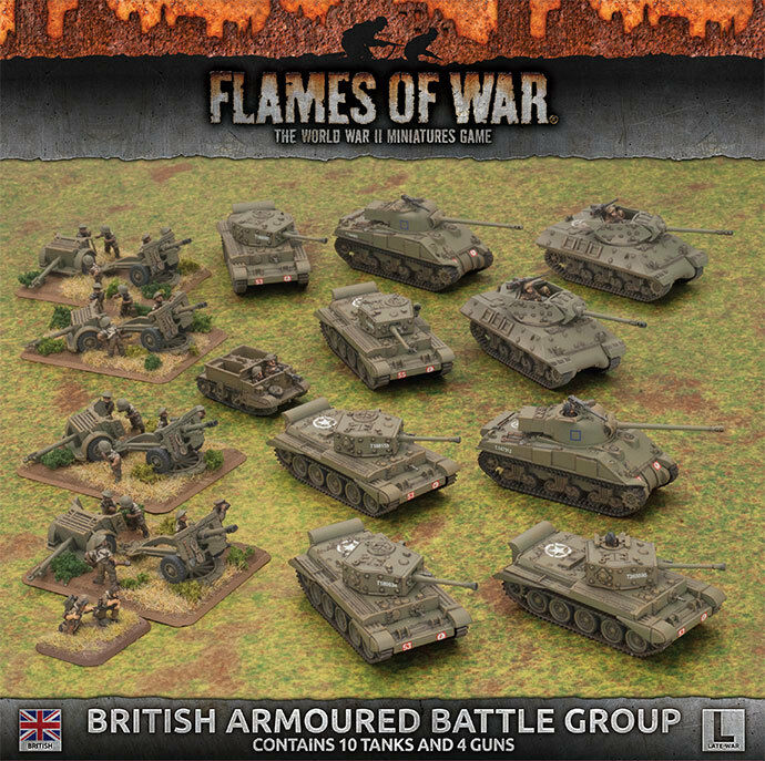 Flames of War 4th Edition British Armed slåss Group låda Set BRAB10