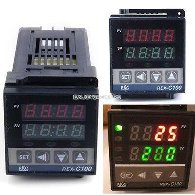 0~400°C Dual PID Digital Temperature Control Controller Thermocouple REX-C100