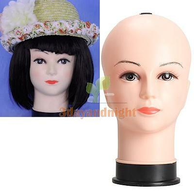 Real Female Mannequin Head Model Wig Hat Jewelry Display Cosmetology Manikin Hot