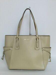 0cbe1721a149 Image is loading Michael-Kors-Voyager-Oat-Leather-Tote-Shoulder-Handbag-