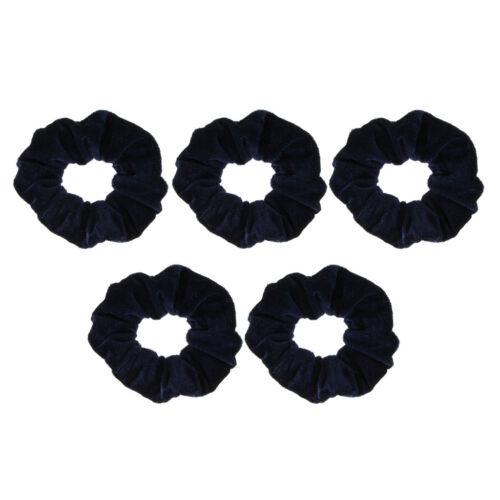 5//pack Elastic Velvet Hair Scrunchies Hair Band Soft Hair Ties