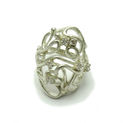 Handmade Sterling Silver Ring Solid 925 Avec 7 Zircone Cubique impératrice R000629