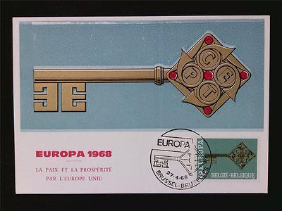 Diverse Philatelie Offizielle Website Belgien Mk 1968 Europa Cept Maximumkarte Carte Maximum Card Mc Cm C6648