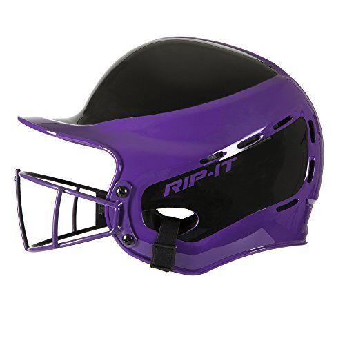 RIP-IT Vision Pro Away Softball Batting Helmet (púrpura, Extra Large)