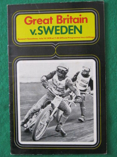 SPEEDWAY INTERNATIONAL Great Britain v Sweden 11 July 1970