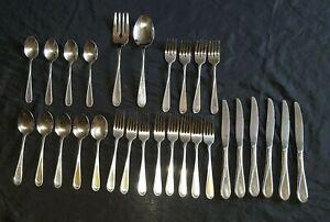 ONEIDA-FLIGHT-RELIANCE-Stainless-Flatware-SET-OF-29-Dinner-Knife-Forks-Spoons