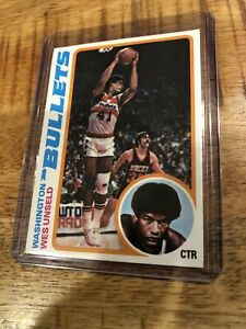 1978-79 Topps Wes Unseld Baltimore Washington Bullets