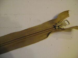 1 Fermeture éclair Séparable De 40 Cm Maillon Spirale 6 Mm Coloris Beige N° 86bc Fabrication Habile