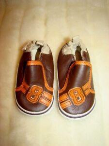 23b07992f113a3 ROBEEZ Mini Shoez Shoes Trail Brown Orange 3-6 Months US Size 2